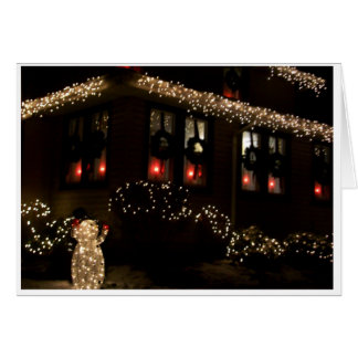 Christmas House Stationery Note Card