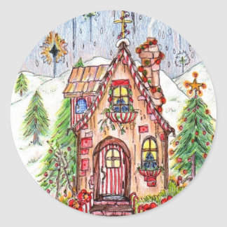 """Christmas house stickers lg 3"""""""