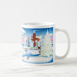 Christmas House: White Mug