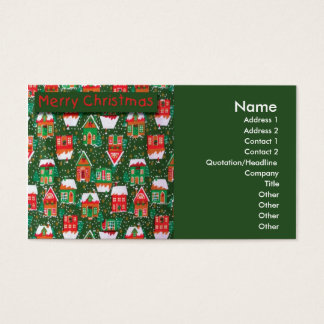 Christmas Houses Business Card