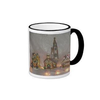 Christmas Houses Ringer Mug