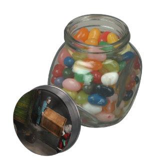 Christmas - How Santa ruined Christmas 1924 Glass Candy Jars