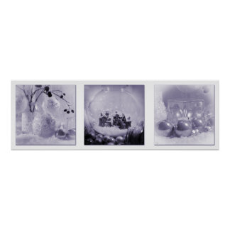 Christmas Hues Triptych Poster