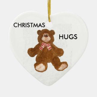 Christmas Hugs Teddy Bear Ornament
