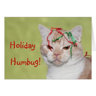 Christmas Humbug cat Card
