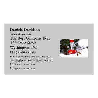 Christmas Hummingbird and Snow Business Card
