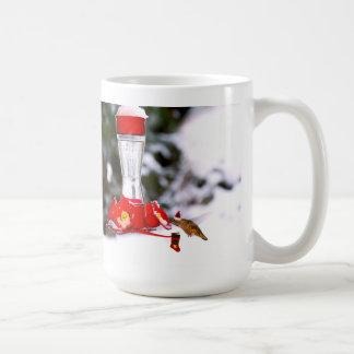 Christmas Hummingbird and Snow Coffee Mug
