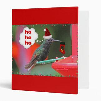Christmas Hummingbird with Christmas Stocking 3 Ring Binders