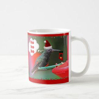 Christmas Hummingbird with Christmas Stocking Classic White Coffee Mug