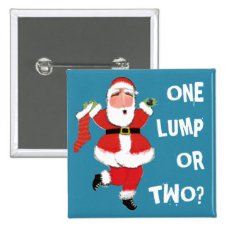 christmas humor 2 inch square button