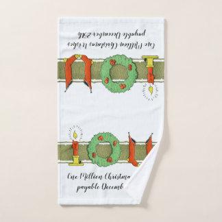 Christmas Humor Old Stockings Vintage Victorian Hand Towel
