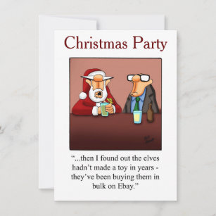 Christmas Humor Party Invitations