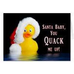 CHRISTMAS - Humor - Santa Baby - Quacks Me UP Cards