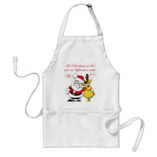 Christmas Humor: Stop Fighting & Reconcile Funny Adult Apron