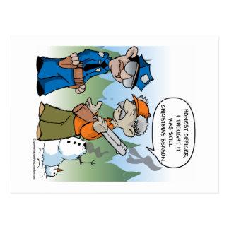 Christmas Hunting Season Postcard