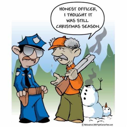Christmas Hunting Season Statuette