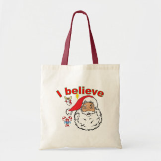 CHRISTMAS I Believe in Santa too Tote Bag