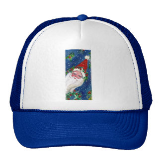 CHRISTMAS I LETTER / SANTA CLAUS WITH RED RIBBON TRUCKER HAT