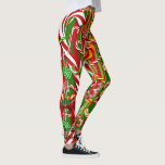 """Christmas I Like Candy Leggings Red Green Pants<br><div class=""""desc"""">A Christmas favorite candy toss in red and green. In My Design Studio I often design leggings using word templates. As a BUYER you can insert your name, change a phrase or keep the words as I originally designed it. If you prefer your leggings without words you can leave a...</div>"""