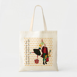 Christmas I Saw Mommy Canvas Bags