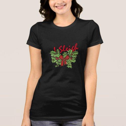 christmas i sleigh emoji funny shirt-design T-Shirt After Christmas Sales 5317