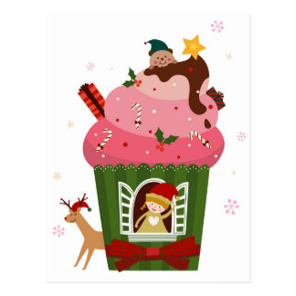 Christmas ice cream postcard