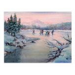 CHRISTMAS ICE SKATING by SHARON SHARPE Postcard