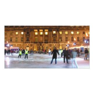 Christmas Ice Skating Photo Cards