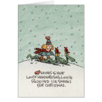 Christmas Ice Snakes Greeting Card