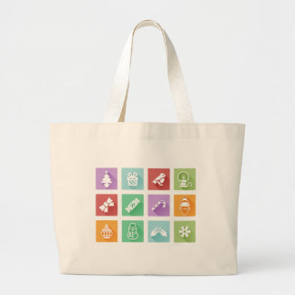 Christmas icons canvas bags