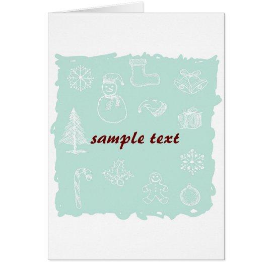 christmas icons card
