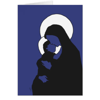 Christmas Icons Card - Mary and Baby Jesus