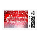 Christmas icy fonts postage stamp