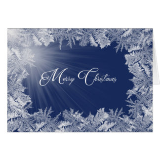 Christmas Icy Frost border Card