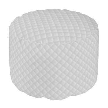 Beach Themed Christmas Icy White Quilt Pattern Pouf