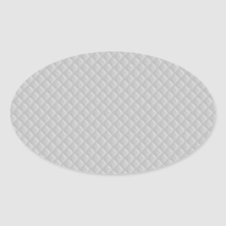 Christmas Icy White Quilt Pattern Oval Sticker