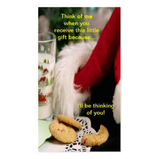 Christmas I'll be thinking of you Bookmark Business Card