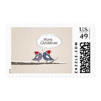 Christmas illustration postage