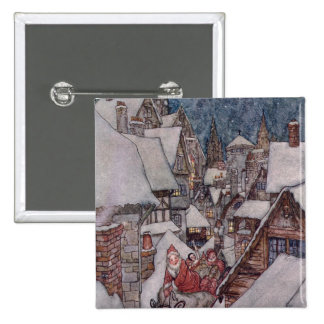 Christmas illustrations 2 inch square button