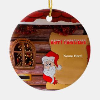 Christmas image for Circle-Ornament Ceramic Ornament