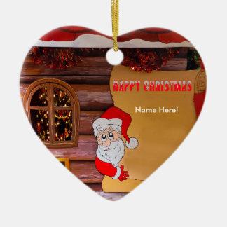 Christmas image for Heart-Ornament Ceramic Ornament