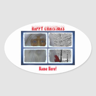 Christmas image for Oval-Stickers-Glossy Oval Sticker