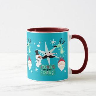 Christmas Images Moustache Mug