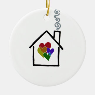 Christmas In A New Home Ceramic Ornament