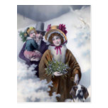 Christmas in Andover, Vintage Holiday Design Postcard