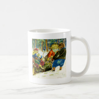 Christmas in Animal Land - The Yule Log Coffee Mug