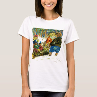 Christmas in Animal Land - The Yule Log T-Shirt