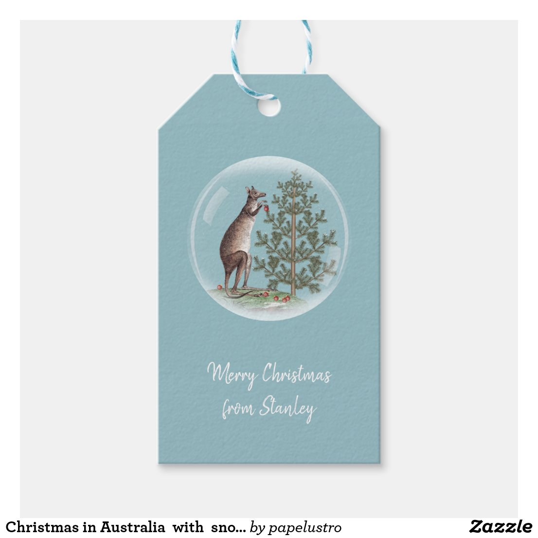 Christmas in Australia Gift Tags