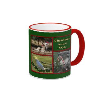 Christmas in Australia Ringer Coffee Mug