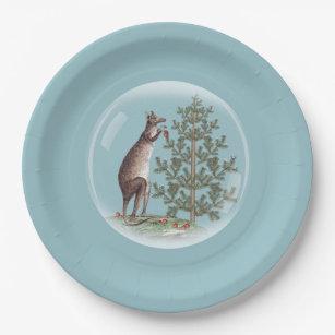 Christmas in Australia Paper Plate & Christmas Australia Plates   Zazzle